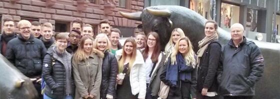 Excursion to the Frankfurt stock exchange